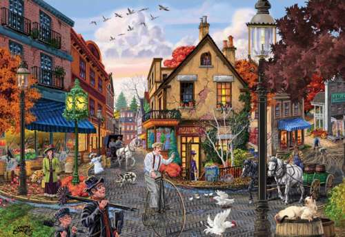 Matilda's Dress Shop (Main Streets) (HOL096312), a 500 piece jigsaw puzzle by Holdson. Click to view larger image.