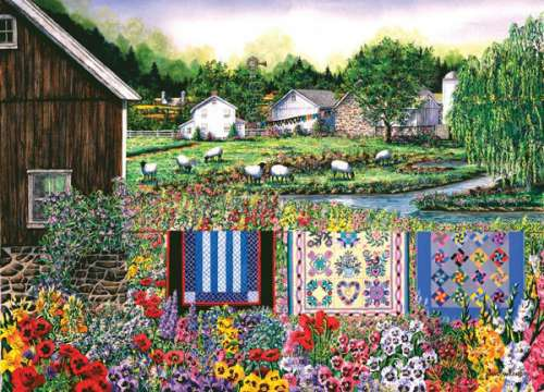 Neighbours (Patchworks) (HOL096145), a 1000 piece jigsaw puzzle by Holdson. Click to view larger image.
