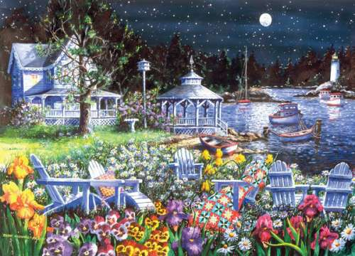 Moonglow (Patchworks) (HOL096169), a 1000 piece jigsaw puzzle by Holdson. Click to view larger image.