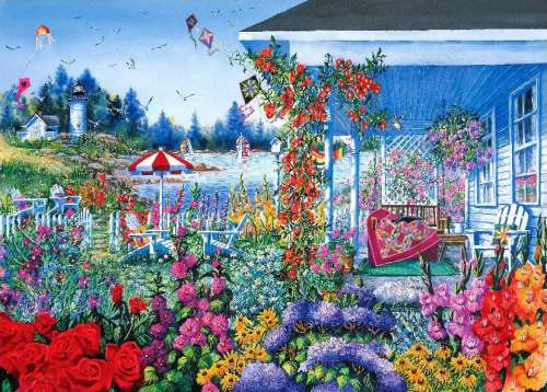 Summer Memories (Patchworks) (HOL096176), a 1000 piece jigsaw puzzle by Holdson. Click to view larger image.