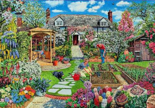 Spring (Garden Splendour) (HOL096244), a 1500 piece jigsaw puzzle by Holdson. Click to view larger image.