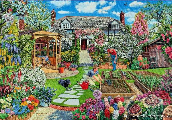 Spring (Garden Splendour) (HOL096244), a 1500 piece jigsaw puzzle by Holdson.