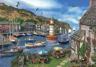 Summertime Harbour (JUM11052), a 1000 piece jigsaw puzzle by Jumbo and artist Dominic Davison. Click to view this jigsaw puzzle.