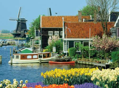 Zaanse Schans, North Holland (JUM18336), a 1000 piece jigsaw puzzle by Jumbo. Click to view larger image.
