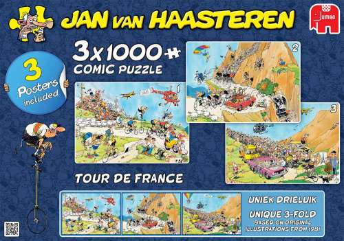 JVH Tour De France 3-in-1 Special Pack (JUM19019), a 1000 piece jigsaw puzzle by Jumbo. Click to view larger image.