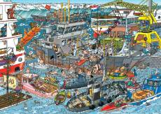 Sea Port (JUM19012), a 500 piece Jumbo jigsaw puzzle.