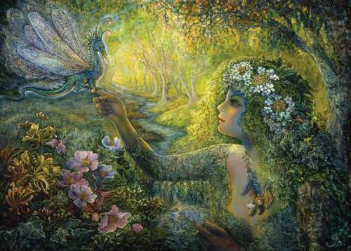 The Dryad and Dragonfly (HOL096558), a 1000 piece jigsaw puzzle by Holdson. Click to view larger image.