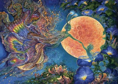 Moonlit Awakening (HOL096541), a 1000 piece jigsaw puzzle by Holdson. Click to view larger image.