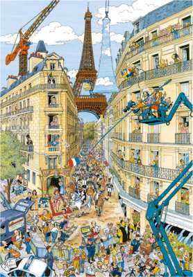 Paris by Fleroux (RB19503-9), a 1000 piece jigsaw puzzle by Ravensburger. Click to view larger image.