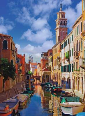 Canals of Venice (RB14488-4), a 500 piece jigsaw puzzle by Ravensburger. Click to view larger image.