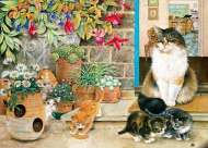 Agnethea and her Kittens (HOL096435), a 1000 piece Holdson jigsaw puzzle.
