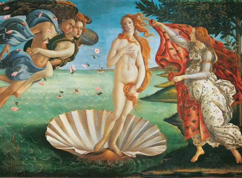 The Birth of Venus (CLE 32553), a 2000 piece jigsaw puzzle by Clementoni. Click to view larger image.