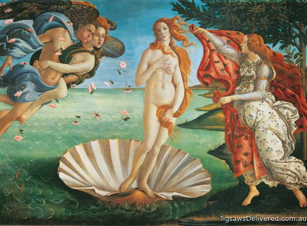 The Birth of Venus (CLE 32553), a 2000 piece jigsaw puzzle by Clementoni.