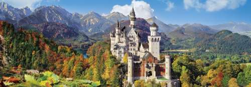 Neuschwanstein Castle (CLE 39283), a 1000 piece jigsaw puzzle by Clementoni. Click to view larger image.