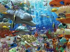 Life Under Water (RB17027-2), a 3000 piece jigsaw puzzle by Ravensburger. Click to view this jigsaw puzzle.