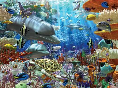 Life Under Water (RB17027-2), a 3000 piece jigsaw puzzle by Ravensburger. Click to view larger image.