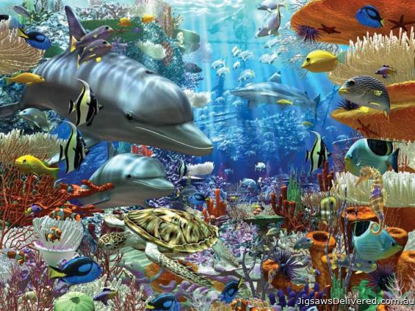 Life Under Water (RB17027-2), a 3000 piece jigsaw puzzle by Ravensburger.