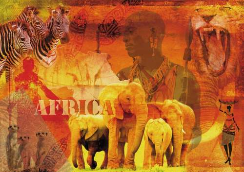 Impressions of Africa (RB19366-0), a 1000 piece jigsaw puzzle by Ravensburger. Click to view larger image.