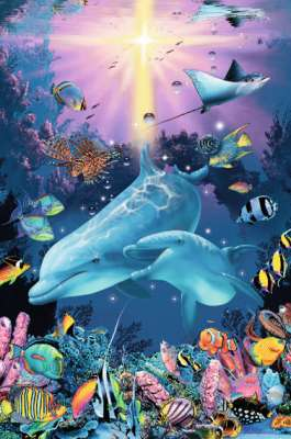 Under the Sea (Glow in the Dark) (RB16184-3), a 1200 piece jigsaw puzzle by Ravensburger. Click to view larger image.