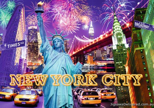 New York (Glow in the Dark) (RB16181-2), a 1200 piece jigsaw puzzle by Ravensburger.