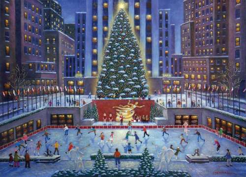 NYC Christmas (RB19563-3), a 1000 piece jigsaw puzzle by Ravensburger. Click to view larger image.