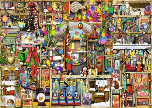 The Christmas Cupboard (RB19468-1), a 1000 piece jigsaw puzzle by Ravensburger. Click to view larger image.