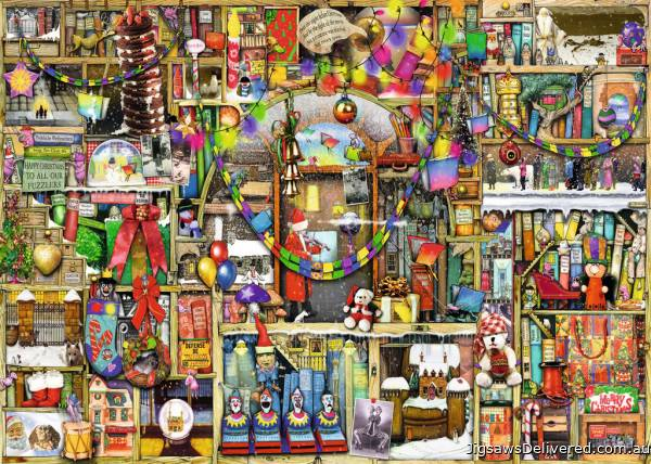 The Christmas Cupboard (RB19468-1), a 1000 piece jigsaw puzzle by Ravensburger.