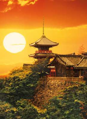 Kyoto, Japan (CLE 39293), a 1000 piece jigsaw puzzle by Clementoni. Click to view larger image.