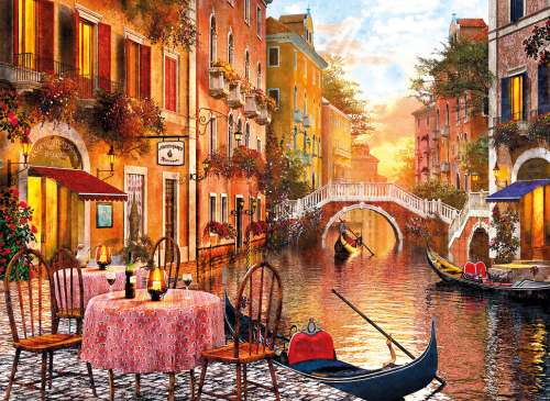 Venetian Sunset (CLE 31668), a 1500 piece jigsaw puzzle by Clementoni. Click to view larger image.