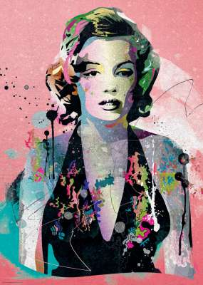 Marilyn Monroe (HEY29710), a 1000 piece jigsaw puzzle by HEYE. Click to view larger image.