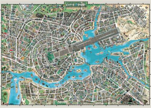 City of Pop (HEY29759), a 3000 piece jigsaw puzzle by HEYE. Click to view larger image.