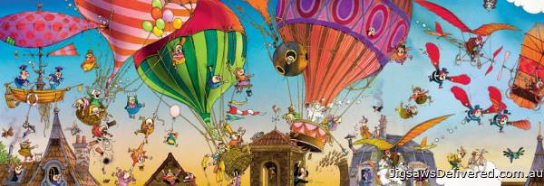 Ballooning (Panoramic) (HEY29756), a 1000 piece jigsaw puzzle by HEYE.