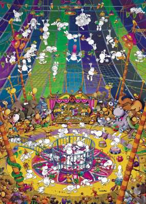 Crazy Circus (HEY29755), a 1000 piece jigsaw puzzle by HEYE. Click to view larger image.