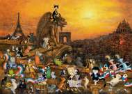 Cats in Paris (HEY29750), a 1000 piece HEYE jigsaw puzzle.