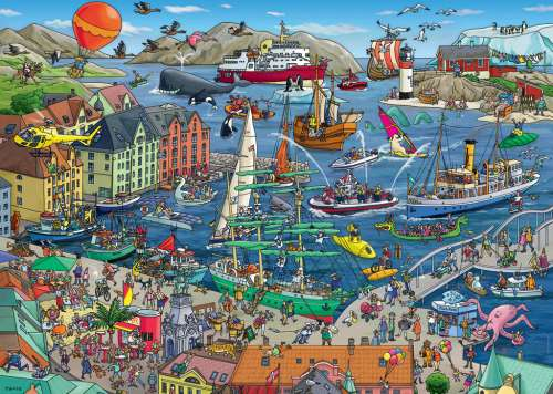 Seaport (HEY29729), a 1000 piece jigsaw puzzle by HEYE. Click to view larger image.