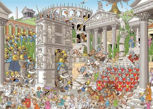 The Romans (JUM19203), a 1000 piece jigsaw puzzle by Jumbo. Click to view larger image.