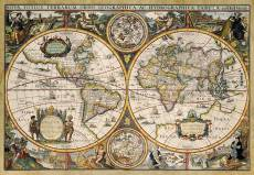 World Map Circa 1630 (JUM18345), a 1500 piece Jumbo jigsaw puzzle.