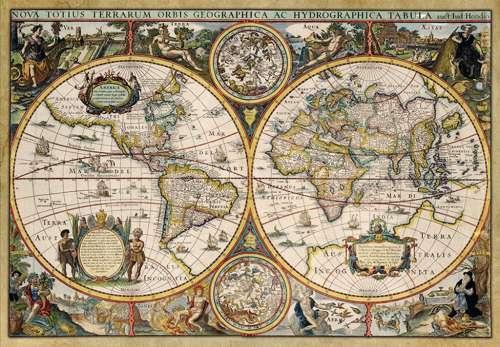 World map circa 1630 jigsaw by jumbo jum18345 1500 pcs jigsaws world map circa 1630 jum18345 a 1500 piece jigsaw puzzle by jumbo gumiabroncs Gallery