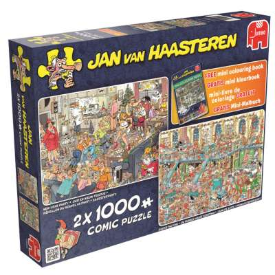 Happy Holidays (2 x 1000pc) (JUM19024), a 1000 piece jigsaw puzzle by Jumbo. Click to view larger image.