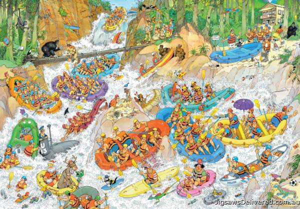 Wild Water Rafting (3000pc) (JUM19017), a 3000 piece jigsaw puzzle by Jumbo.