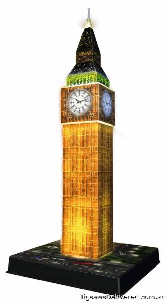 Big Ben Night Edition (3D Puzzle) (RB12588-3), a 216 piece jigsaw puzzle by Ravensburger.