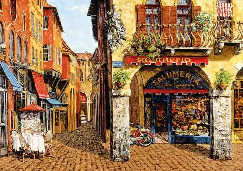 Colours of Italy (EDU16770), a 1500 piece jigsaw puzzle by Educa. Click to view larger image.