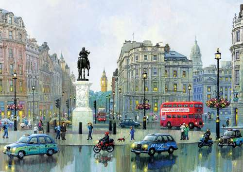 London Charing Cross (EDU16779), a 3000 piece jigsaw puzzle by Educa. Click to view larger image.