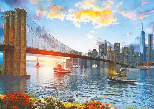 Brooklyn Bridge, New York (EDU16782), a 4000 piece jigsaw puzzle by Educa. Click to view larger image.