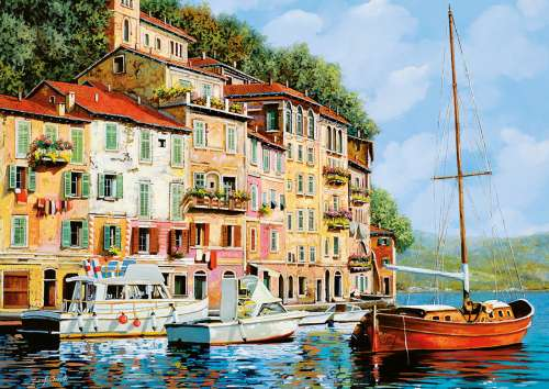 Mediterranean Sailing (EDU16776), a 2000 piece jigsaw puzzle by Educa. Click to view larger image.