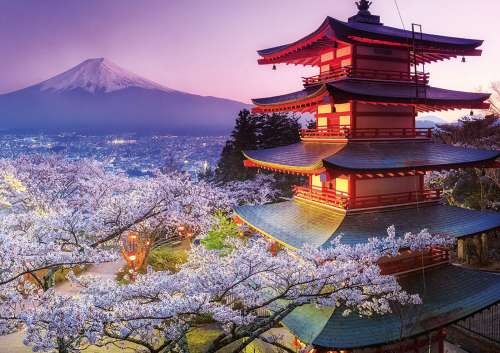 Mount Fuji, Japan (EDU16775), a 2000 piece jigsaw puzzle by Educa. Click to view larger image.