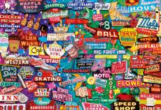 Retro Neon Signs (EDU16753), a 1000 piece Educa jigsaw puzzle.