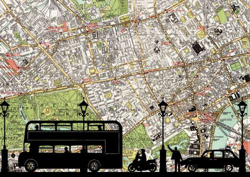 London Rush Hour (EDU16731), a 500 piece jigsaw puzzle by Educa. Click to view larger image.