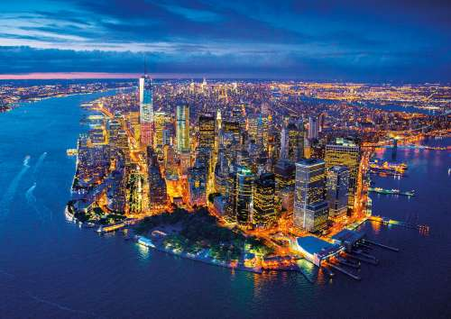 New York Aerial (EDU16773), a 2000 piece jigsaw puzzle by Educa. Click to view larger image.