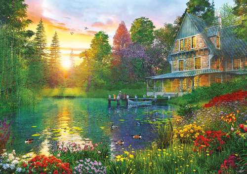 Sunset with Grandpa (Large Pieces) (EDU16746), a 300 piece jigsaw puzzle by Educa. Click to view larger image.